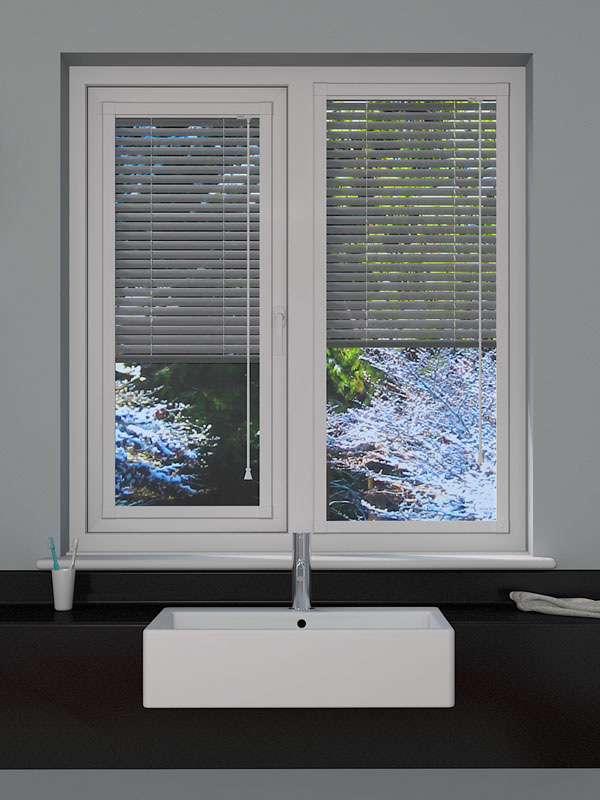 Perforated Silver Perfect Fit Blind