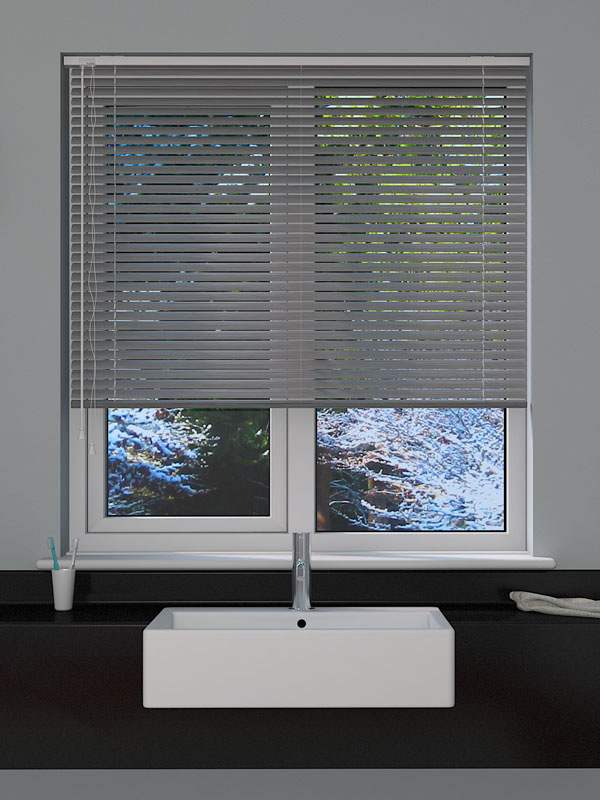 Brushed Silver Venetian Blind