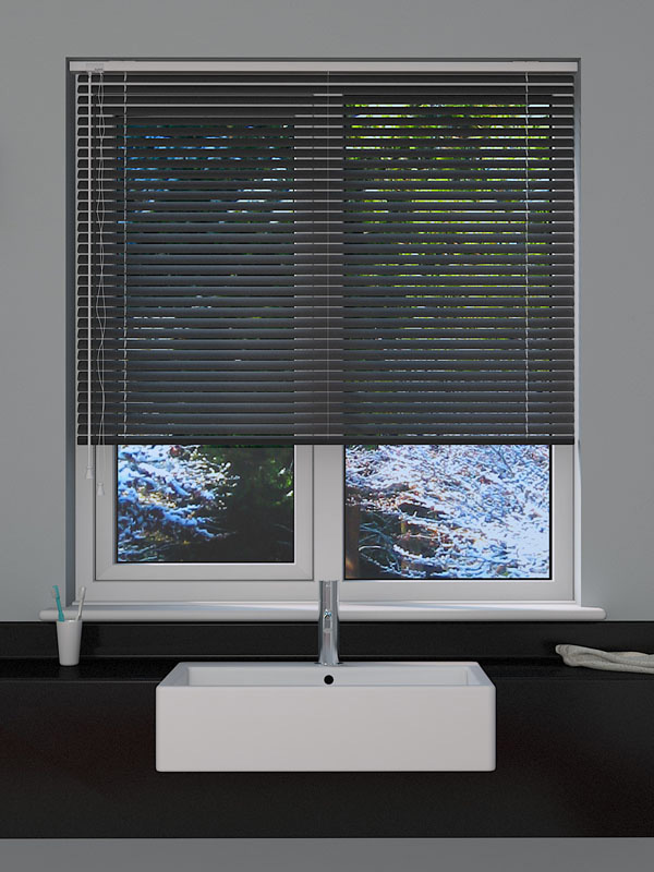 Dark Grey Venetian Blind