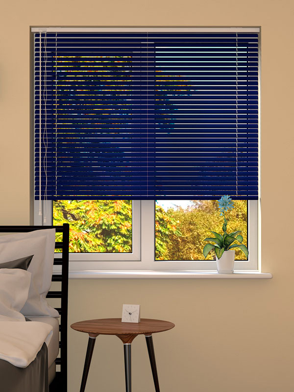 Dark Blue Venetian Blind