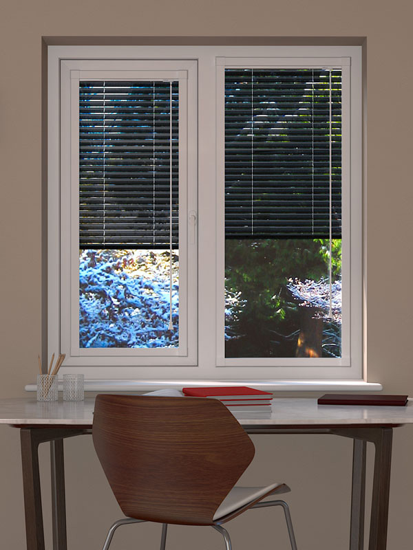 Black Perforated Perfect Fit Blind