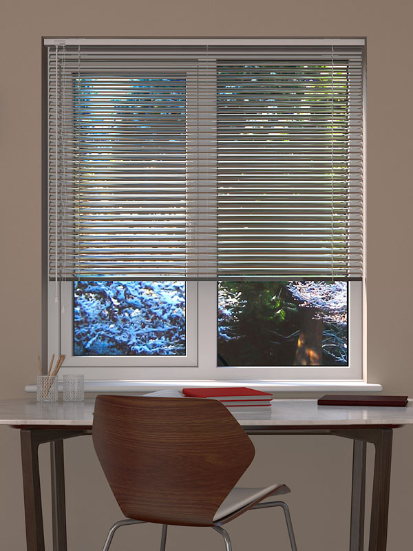 Chrome Venetian Blind