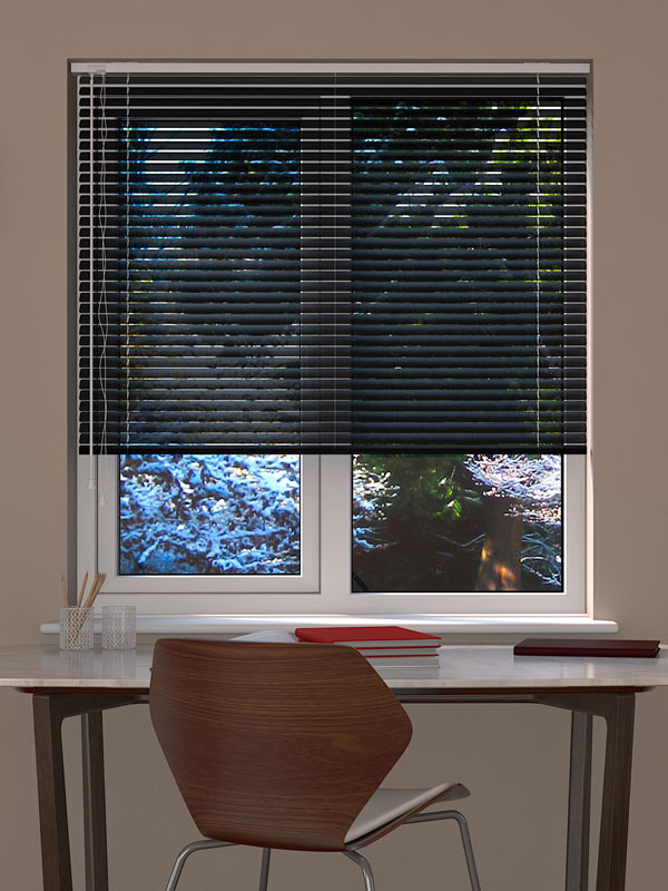 Black Perforated Venetian Blind