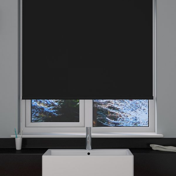 Black Blackout Roller Blind