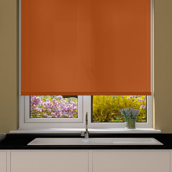 Burnt Orange Roller Blind