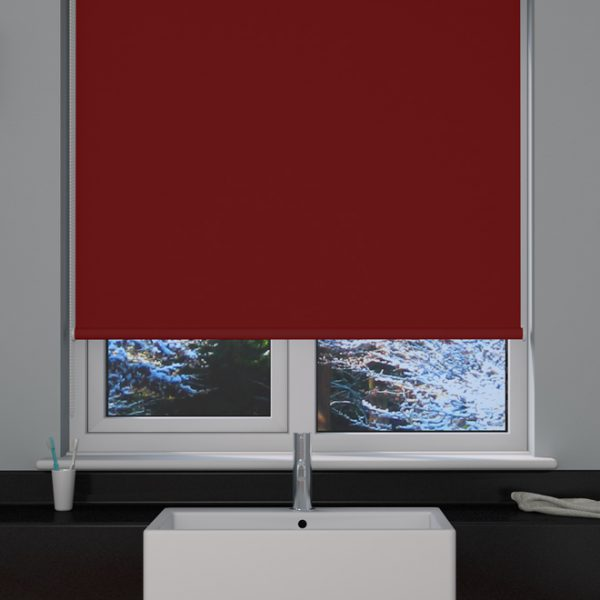 Cerise Blackout Roller Blind