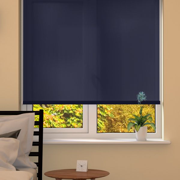 Dark Blue Roller Blind