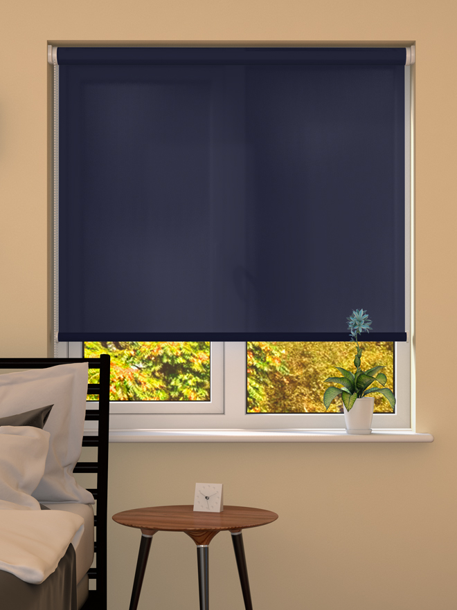 Dark Blue Roller Blind Blinds Direct Online