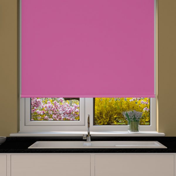 Hot Pink Blackout Roller Blind