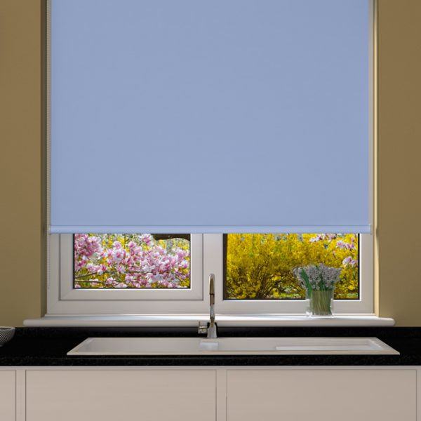 Light Blue Blackout Roller Blind