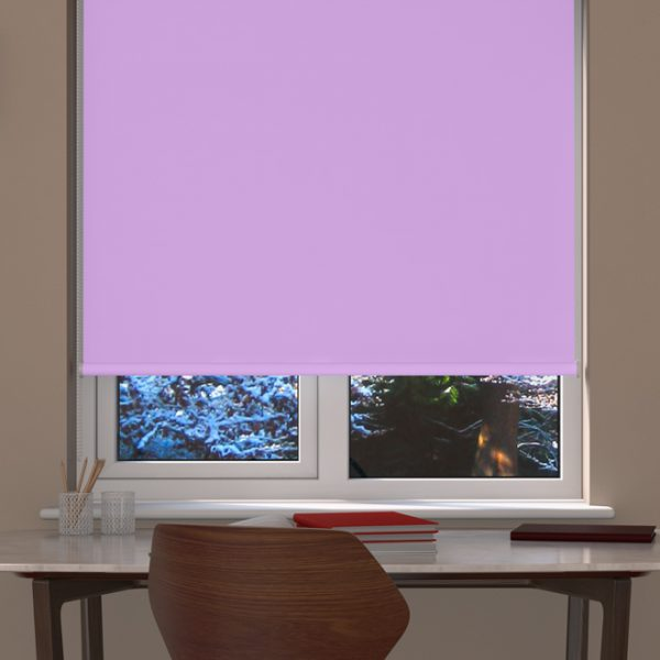 Lilac Blackout Roller Blind