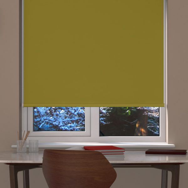 Lime Blackout Roller Blind