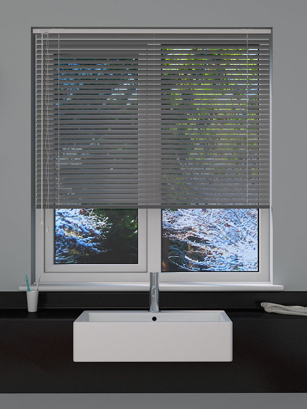 Perforated Silver Venetian Blind Blinds Direct Online