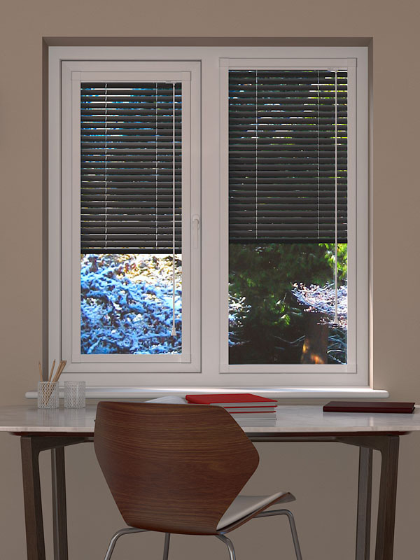 Metallic Gun Metal Perfect Fit Venetian Blind Blinds
