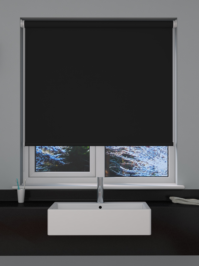 Black Blackout Roller Blind Blinds Direct Online