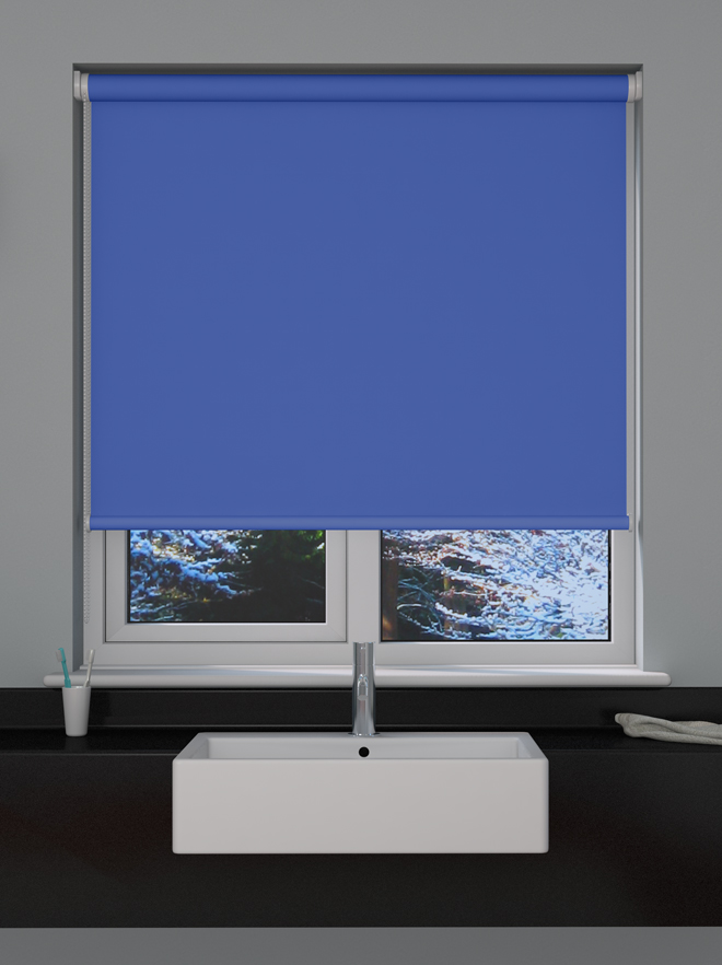 Blue Blackout Roller Blind Blinds Direct Online