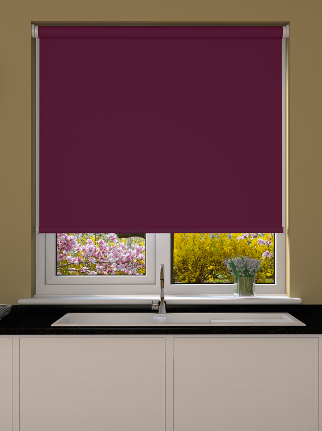Grape Blackout Roller Blind Blinds Direct Online