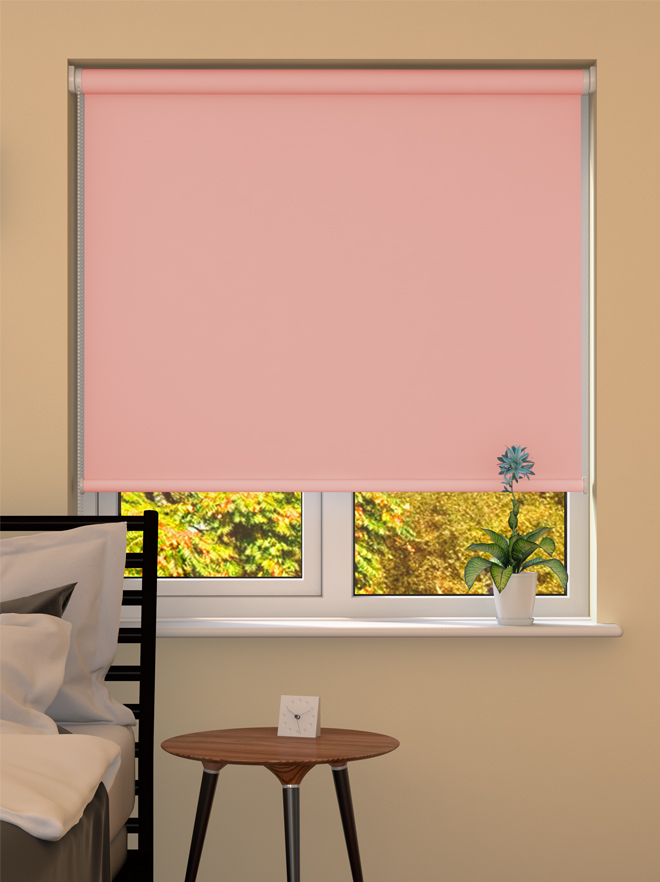 Pale Pink Blackout Roller Blind Made To Measure From 163 28