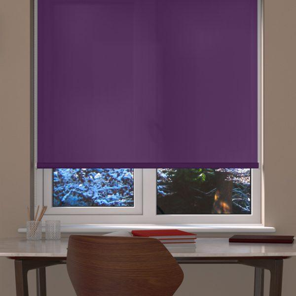 purple-roller-blind